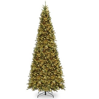 12 ft. Tiffany Fir Slim Tree with Clear Lights - 12 Ft.