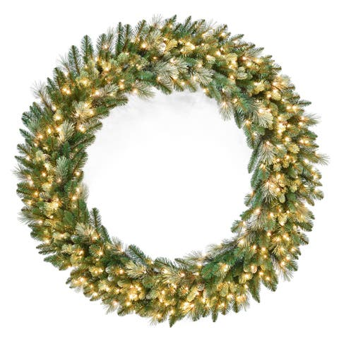 "60"" Carolina Pine Wreath with Clear Lights"