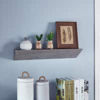 Danya B. Grey Wood Triangular Floating Wall Shelf