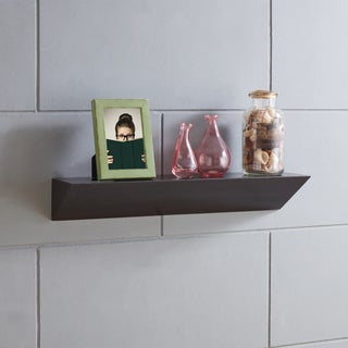 Danya B. Walnut Brown Triangular Ledge Wall Shelf