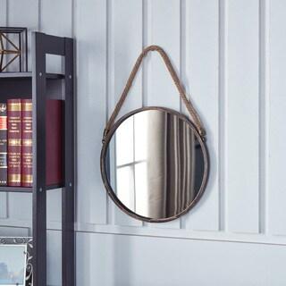 Danya B. Patina Goldtone 15-inch Hanging Rope Round Mirror