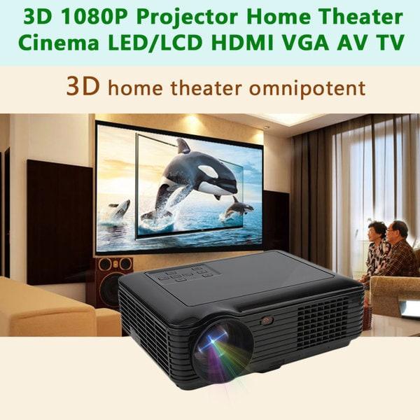 3D 1080P Projector Home Theater Cinema LED/LCD HDMI VGA AV TV