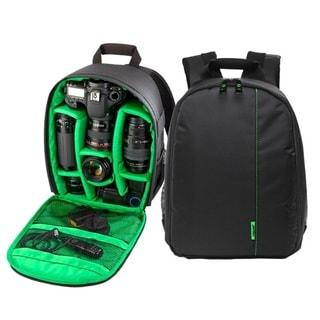 Orange Waterproof Camera DSLR Lens Backpack Case Bag Adjustable Padded Divider
