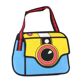 3D Jump Style 2D Drawing From Cartoon Three-Dimensional Camera Shape Bag