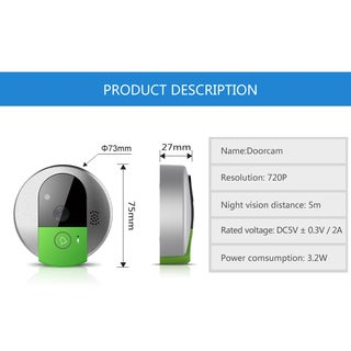 Smart WiFi DoorBell Wireless Night Visual Video Doorbell Via Phone Control