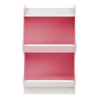 IRIS 2-tier White and Pink Curved Edge Storage Shelf