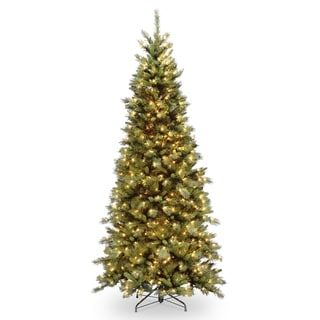 6.5 ft. Tiffany Fir Slim Tree with Clear Lights