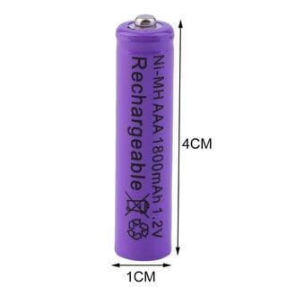 24 pieces+2 Charging Slot AAA 1800mAh 1.2V Ni-MH Battery