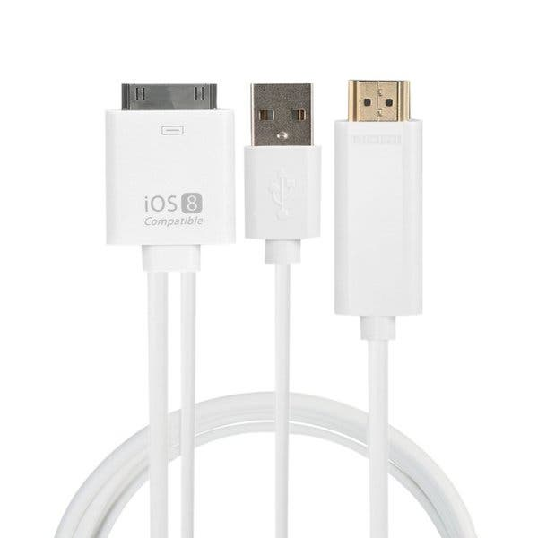 Shop Dock to HDMI HDTV TV Adapter USB Cable for iPhone 4/4S for iPad 2 3  for iPod touch 4 - Overstock - 17205891