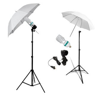 Photo Studio Continuous Lighting One Umbrella Lamp Photography Stand Kit