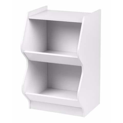 IRIS 2-tier White Curved Edge Storage Shelf