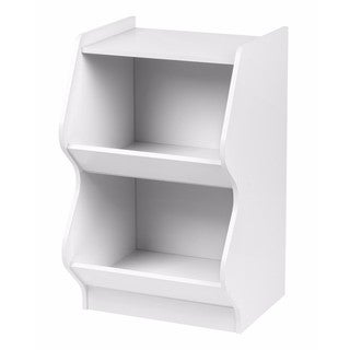 IRIS 2-tier White Curved Edge Storage Shelf
