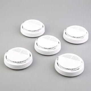 5 x Fire Smoke Sensor Detector Alarm Tester Home Security System Cordless