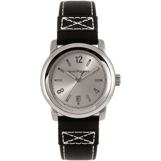 Hush Puppies Men's Quartz Black Leather Strap Watch