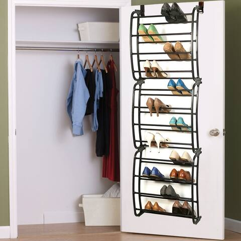"""Sweet Home Collection Sunbeam Over The Door 36 Pair Shoe Rack (71""""x22.5""""x7.5"""")"""