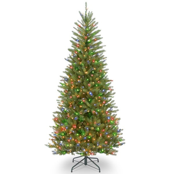 6.5 ft. Dunhill® Fir Slim Tree with Multicolor Lights - 6.5'