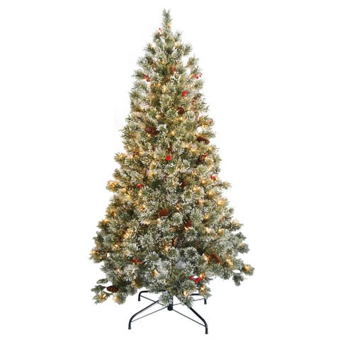 6 ft. Crystal Cashmere Tree with Clear Lights