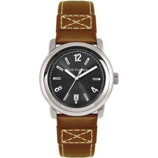 Hush Puppies Men's Quartz Brown Leather Strap Watch
