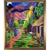 Paul Gauguin 'Road in Tahiti, 1891' Hand Painted Oil Reproduction