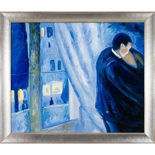 Edvard Munch 'Kiss by the Window, 1892' Hand Painted Oil Reproduction
