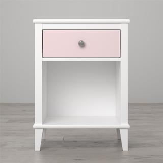 Little Seeds Monarch Hill Poppy Nightstand (White/Pink)