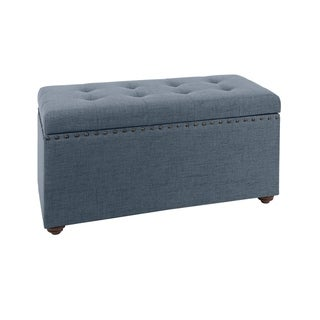 Penelope Nail Head Storage Bench