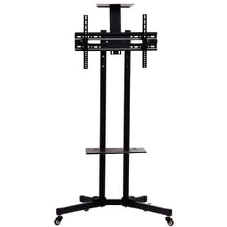 "TV Mobile Rack Stand with Wheels for LCD LED Plasma Flat Panels 32"" to 65"""