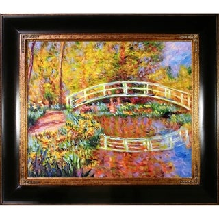 Claude Monet 'The Japanese Bridge' (yellow) Hand Painted Oil Reproduction