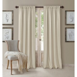Elrene Cachet 3-in-1 Blackout Energy Efficient Window Curtain Panel