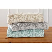 Home Fashion Designs Kingston Collection Ultra Velvet Plush Oversize Throw Blanket with Printed Pattern