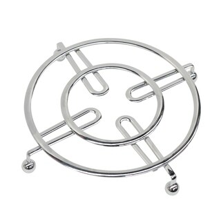 "Sweet Home Collection Chrome Flat Wire Trivet (8.25""x8.25""x1"")"