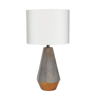"""18"""" Rustic Prism Table Lamp with Gold Accent"""
