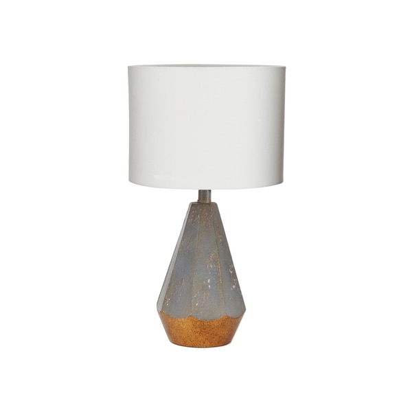 """14"""" Rustic Prism Table Lamp with Gold Accent"""