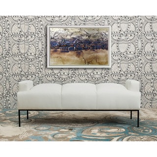 Chic Home Celicia Bench Pebble Grain PU Leather Ottoman with Metal Frame
