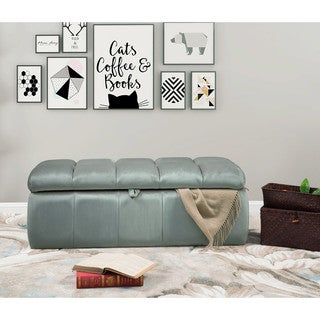 Chic Home Fiesta Velvet Tufted Modern Transitional Storage Bench Ottoman (4 options available)
