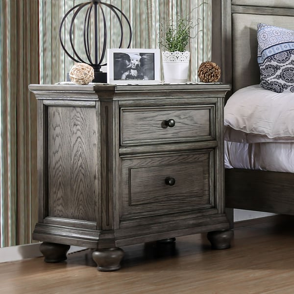Shop Furniture Of America Fenemi Grey 2 Drawer Nightstand