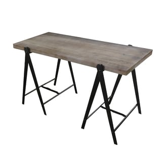 Caribou Dane Epoch Natural and Industrial Patina Wood Top Desk