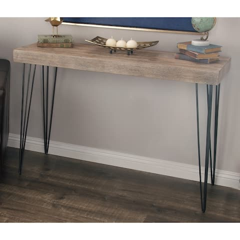 Industrial Rectangular Wooden Console Table by Studio 350