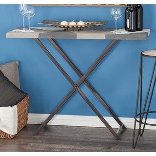 Studio 350 Metal Wood Dark Gray, Light Gray, White, Black Console Table