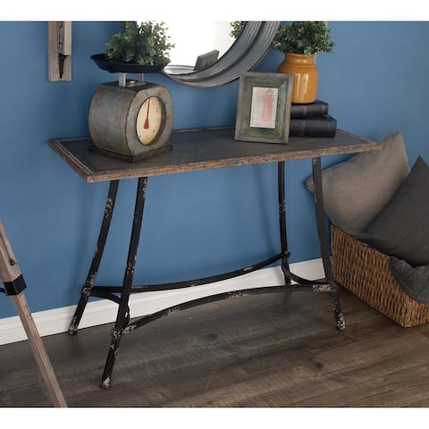 Farmhouse 30 Inch Rectangular Distressed Console Table by Studio 350