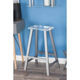 Studio 350 Metal Acrylic Bar Stool 18 inches wide, 28 inches high