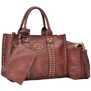 Dasein Middle Studded Tote with Detachable Organizer Bag/ Pouch and Matching Wristlet (More options available)