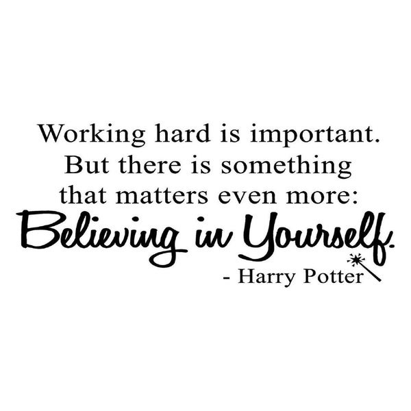 Shop Working Hard Is Important Harry Potter Quote Wall Vinyl
