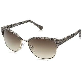 Diane Von Furstenberg Cat-eye Zianna DVF830S Women's Brown Snake Frame Brown Gradient Lens Sunglasses