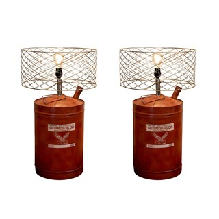 Rivet and Rust Oil Can Lamps (Set of 2)