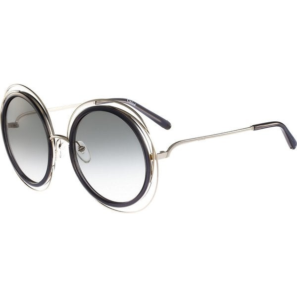 36e45dcb78 Chloe Carlina Round CE120S Women's Gold Frame Transparent Grey Lens  Sunglasses