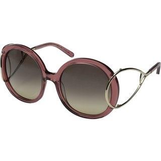 Chloe Jackson CE703S Women's Rose Plastic Frame and Brown Gradient Lens Sunglasses