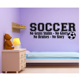Soccer No Grass Stains Boy Lettering Decal Wall Vinyl