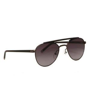 Calvin Klein Platinum Unisex Gunmetal Frame Gradient Grey Lens Sunglasses