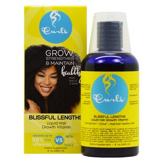 Curls Blissful Lengths Liquid Hair 8-ounce Growth Vitamin